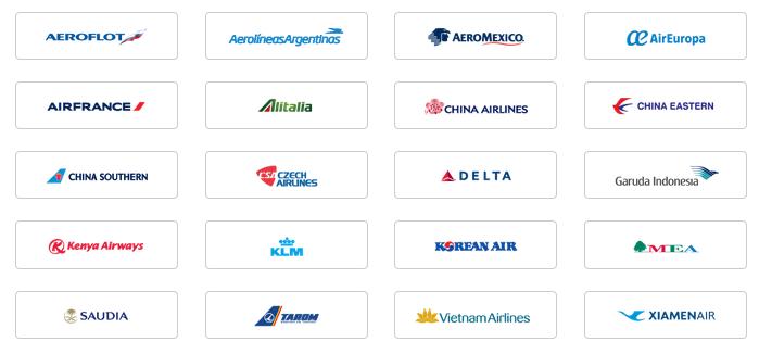 スカイチーム加盟航空会社