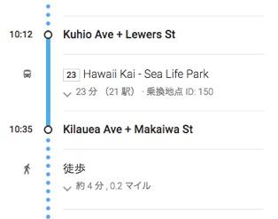 ホールフーズ ハワイ(カハラ店):23番バスを利用したルート