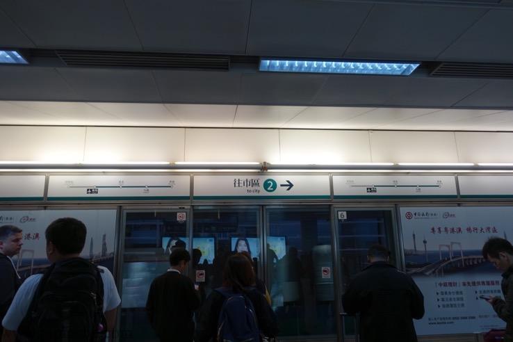 エアポート・エクスプレスの空港駅の様子1