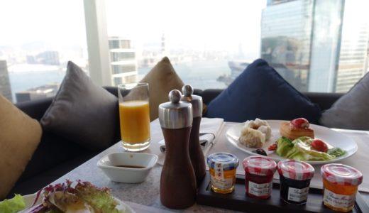 JWマリオット香港:エグゼクティブラウンジでの朝食とカクテルタイム!プールもご紹介!