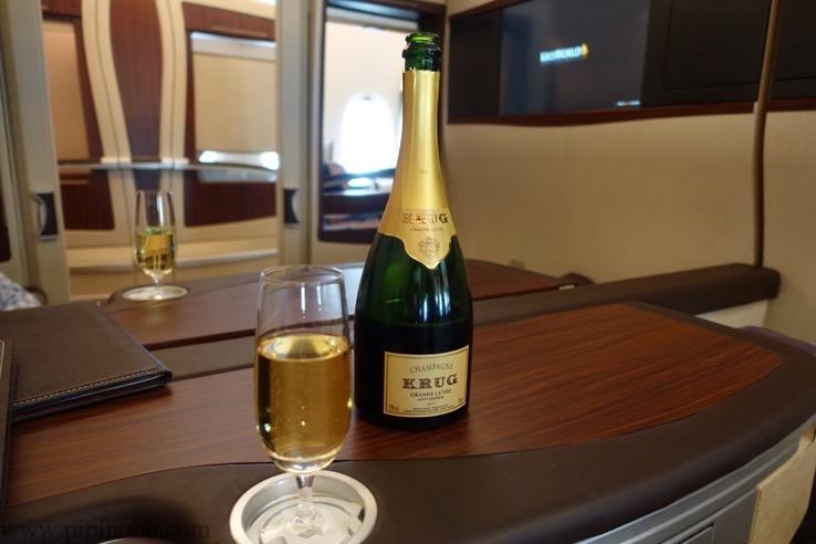 シンガポール航空「スイートクラス」のドリンク