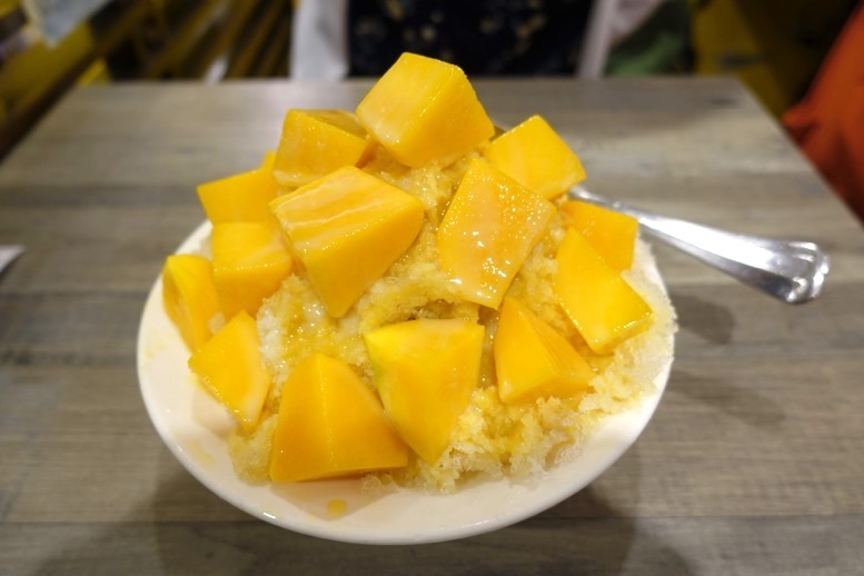 緑豆蒜啥咪(リュウドウスァンシャーミー)のかき氷1
