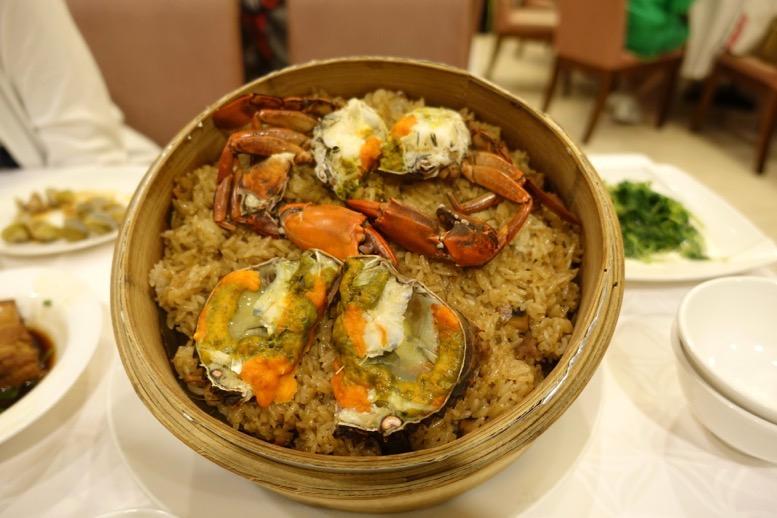 欣葉 (シンイエ)台北の蟹おこわ
