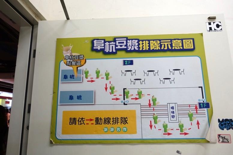 阜杭豆漿(フーハン・ドゥジャン)の行列の並び方1