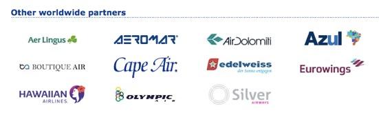 ユナイテッド航空(UA)の提携航空会社