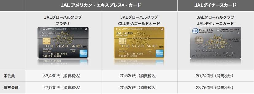 JALグローバルクラブカード一覧2