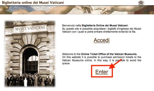 ヴァチカン美術館のチケット予約方法1
