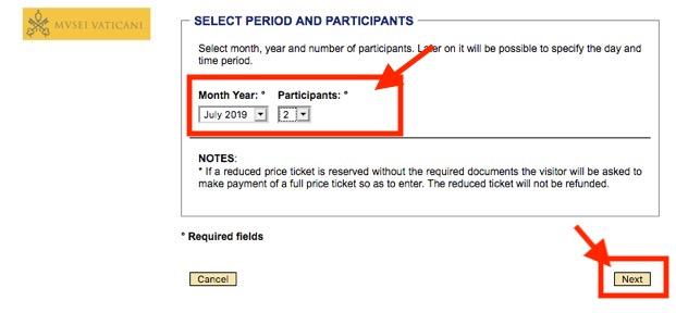 ヴァチカン美術館のチケット予約方法5