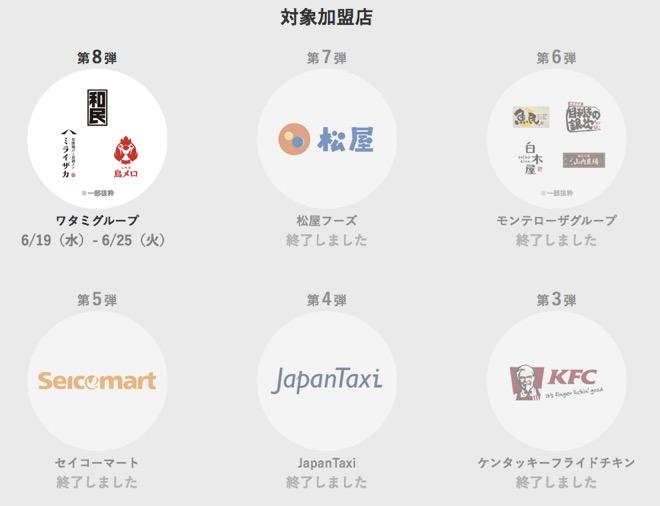 オリガミペイ (Origami Pay)の半額キャンペーン:対象店舗1