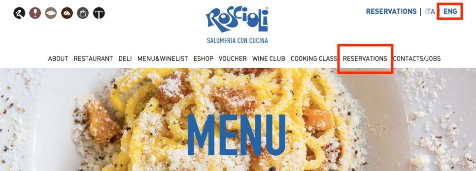 ロショーリ(Roscioli)の予約画面1