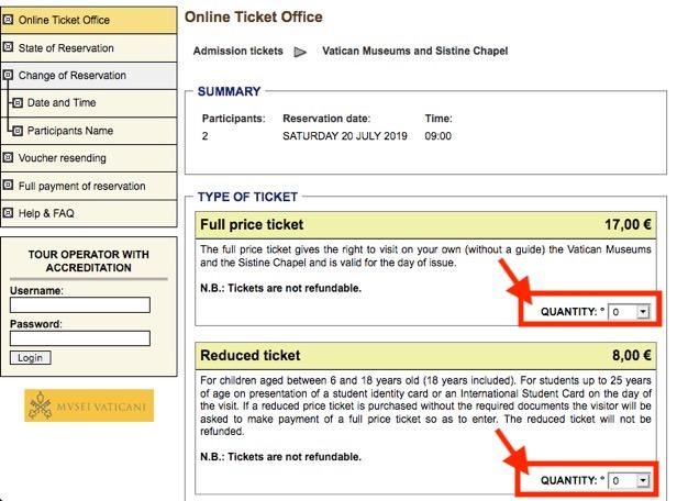 ヴァチカン美術館のチケット予約方法8