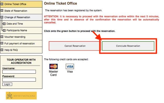 ヴァチカン美術館のチケット予約方法14