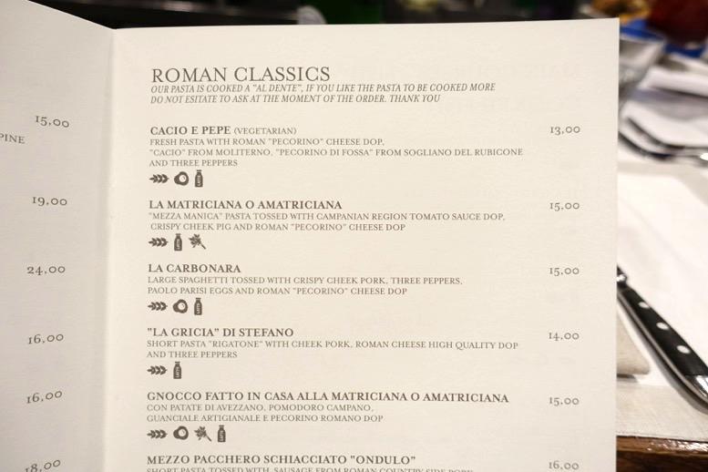 ロショーリ(Roscioli)のメニュー3