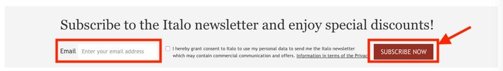 イタロ(Italo)のニュースレター購読