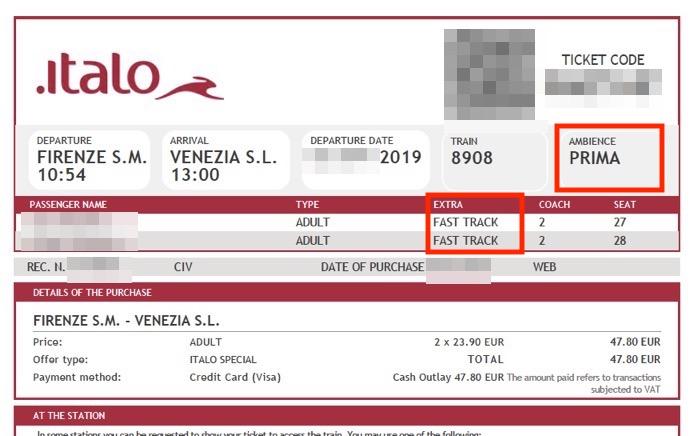 イタロ(Italo)の電子チケット2