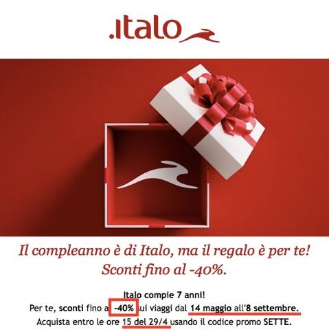 イタロ(Italo)のクーポンコード(プロモーションコード)
