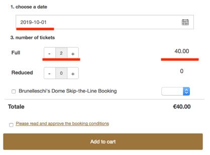 チケット予約方法「枚数選択」