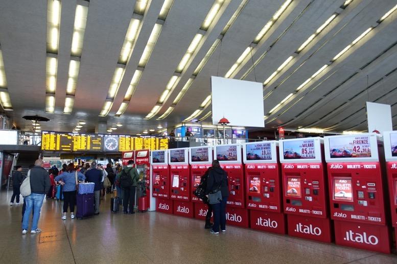 イタロ(Italo)の券売機のイメージ