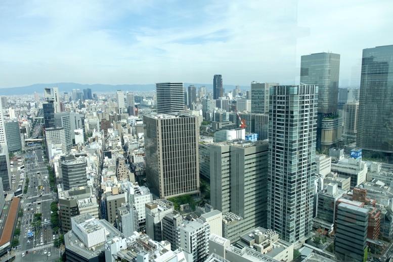 リッツ大阪:クラブデラックスルームの眺望1