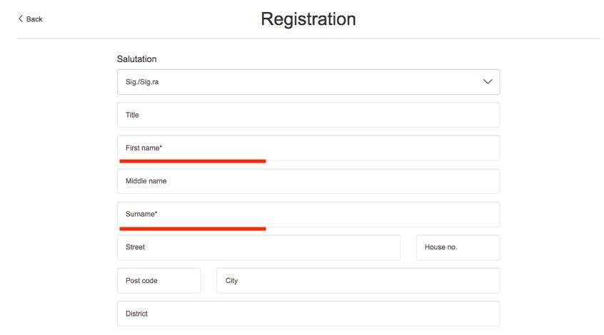 チケット予約手順「会員情報の登録」2