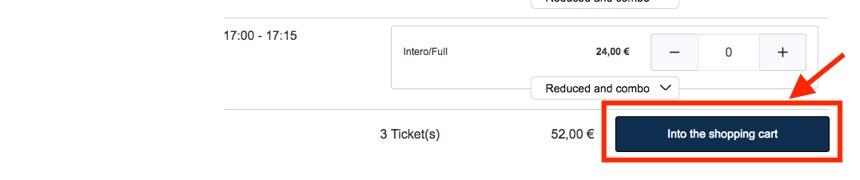 チケット予約手順「チケット枚数の選択」2