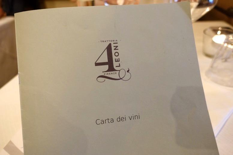 「クアトロレオーニ(4 Leoni)」のメニュー1