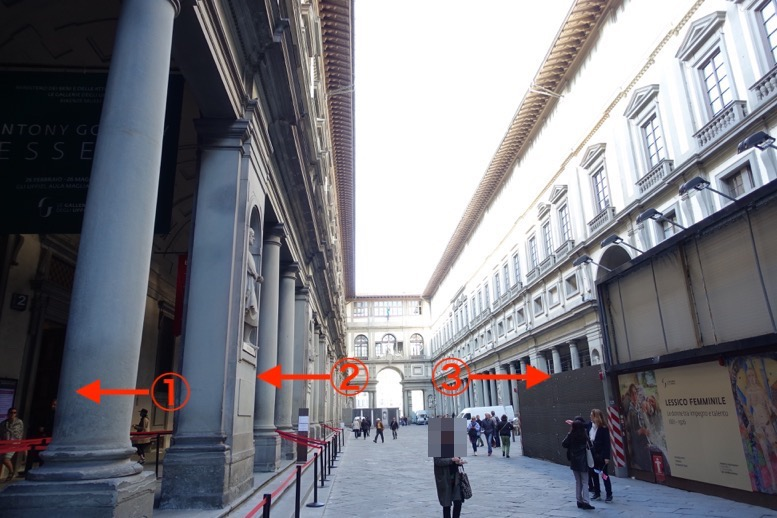 ウフィツィ美術館の入り口1