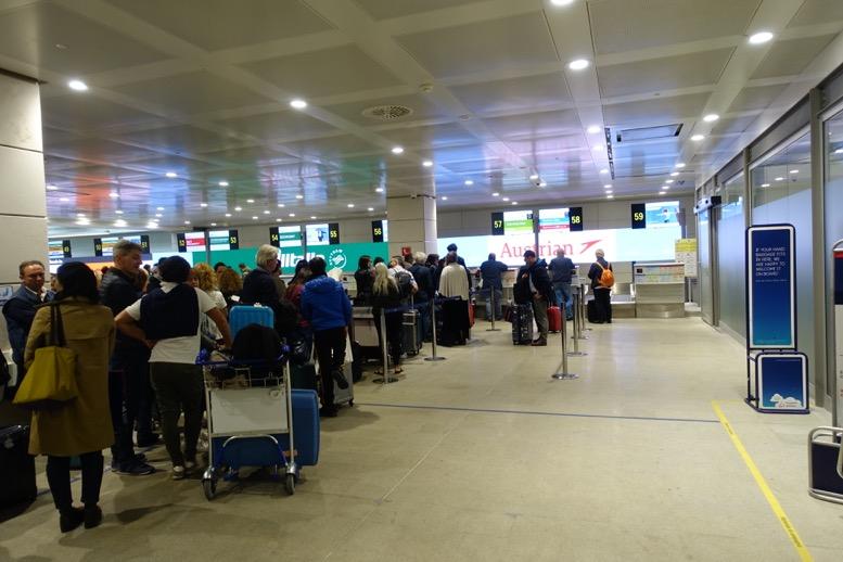 オーストリア航空:優先チェックイン1