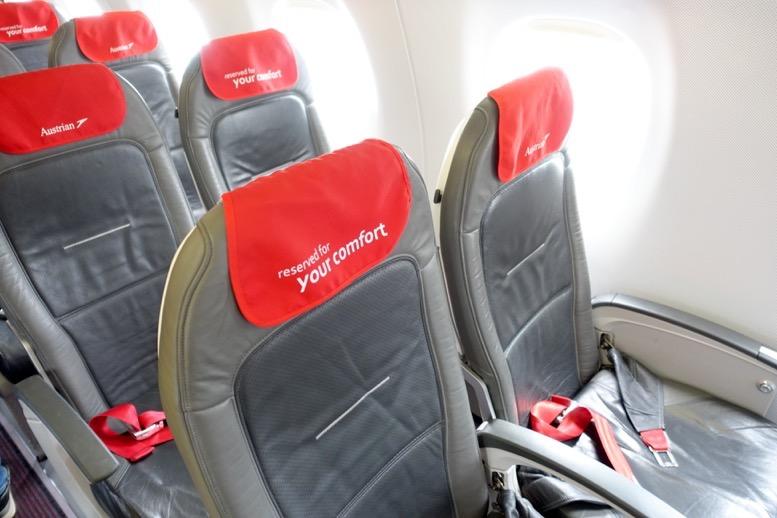 オーストリア航空:機内の雰囲気と座席(シート)1