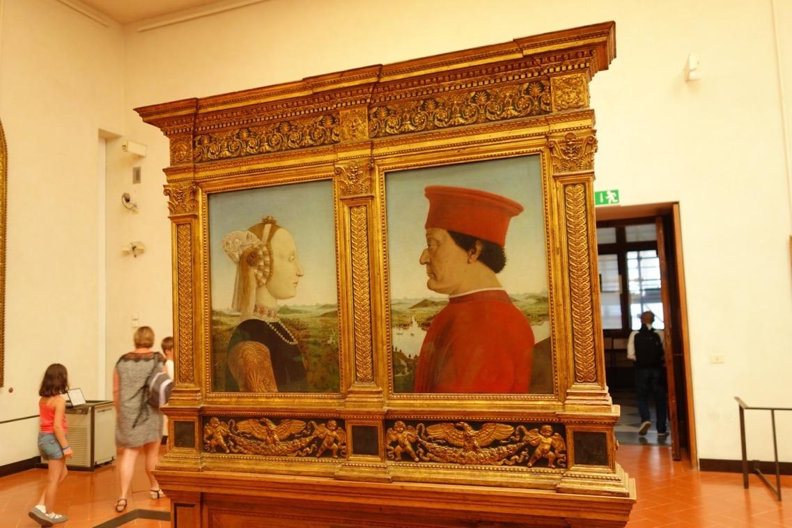 フランチェスカ「ウルビーノ公爵夫妻の肖像」