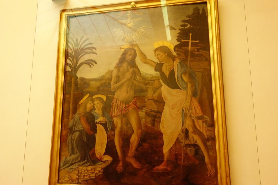 ヴェロッキオとレオナルド・ダ・ヴィンチ「キリストの洗礼」