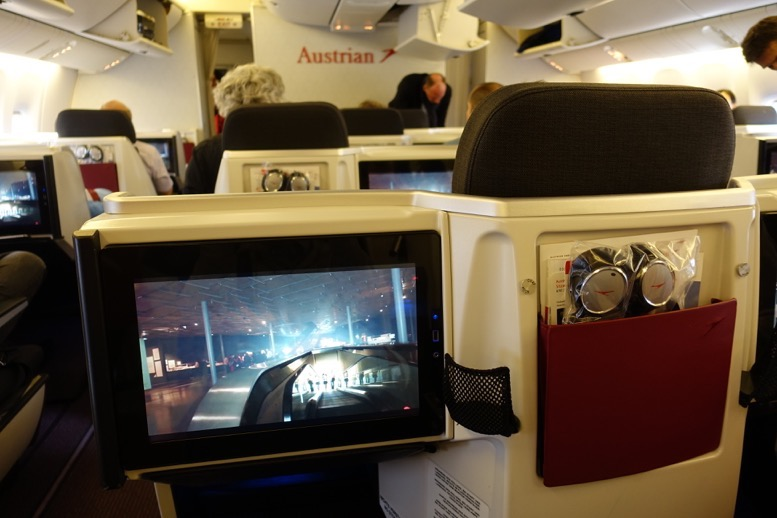 オーストリア航空「ビジネスクラス」の座席(シート)5