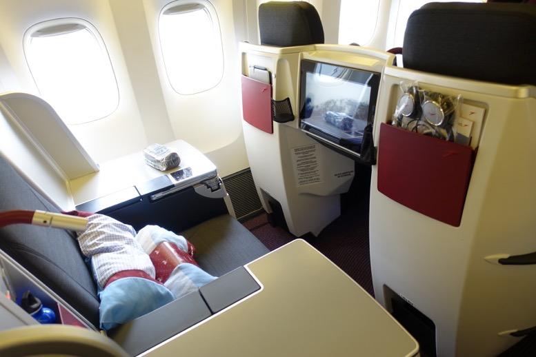 オーストリア航空「ビジネスクラス」の座席(シート)3
