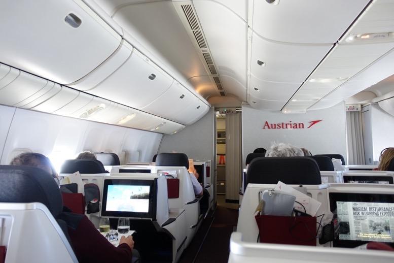 オーストリア航空「ビジネスクラス」の座席(シート)2
