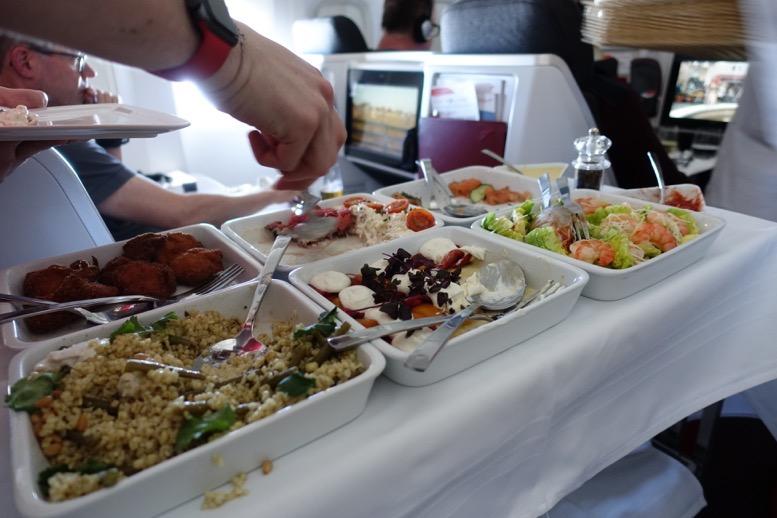 オーストリア航空「ビジネスクラス」の機内食(フード)2