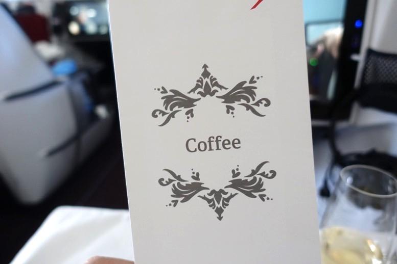 オーストリア航空「ビジネスクラス」のコーヒーサービス1