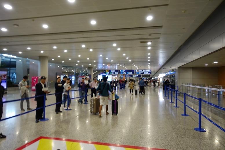 上海浦東国際空港での乗り継ぎ6