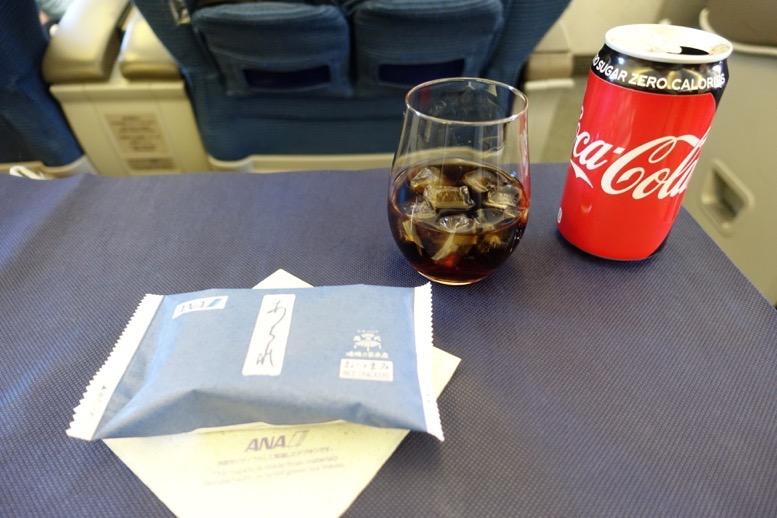 ANAビジネスクラス搭乗記:機内食1
