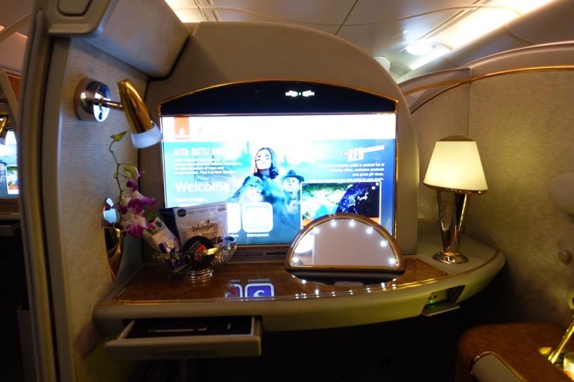 エミレーツ航空ファーストクラス:座席シート1