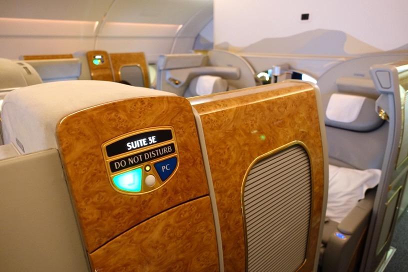 エミレーツ航空ファーストクラス:座席シート9