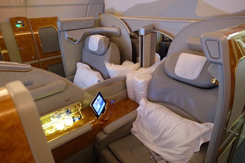 エミレーツ航空ファーストクラス:全体像と雰囲気3