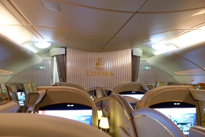 エミレーツ航空ファーストクラス:全体像と雰囲気1