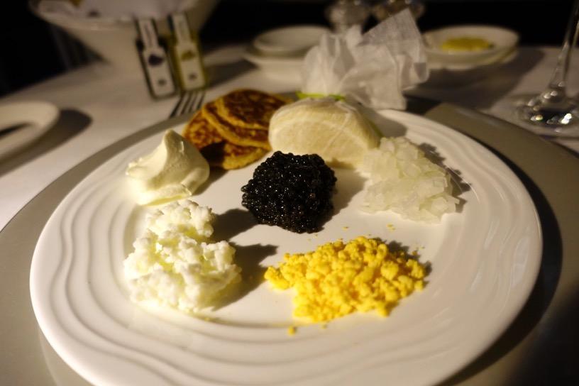 エミレーツ航空ファーストクラス:機内食(洋食)3