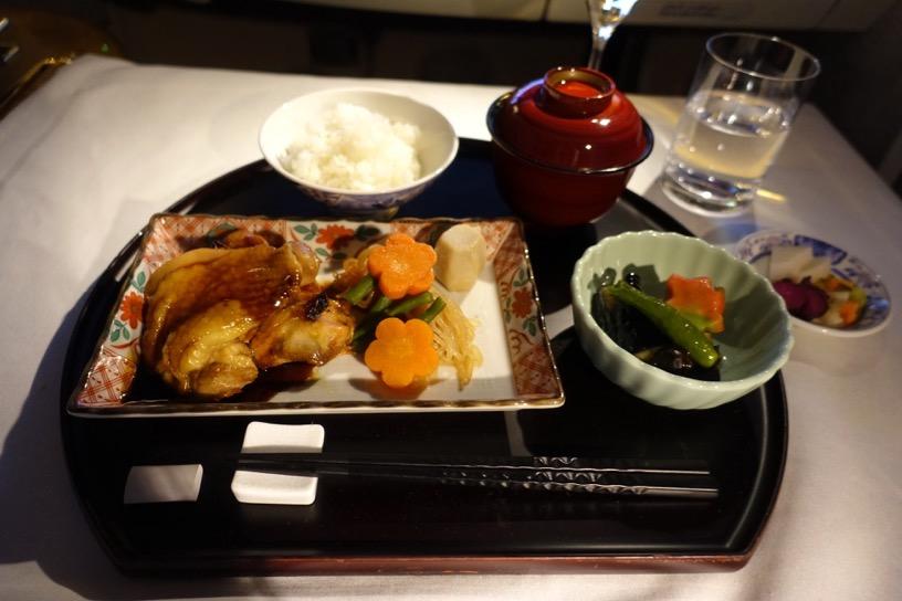 エミレーツ航空ファーストクラス:機内食(和食)2