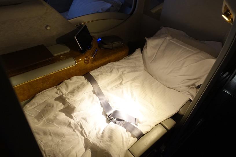 エミレーツ航空ファーストクラス:就寝1