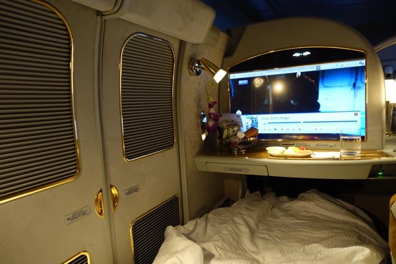 エミレーツ航空ファーストクラス:就寝3