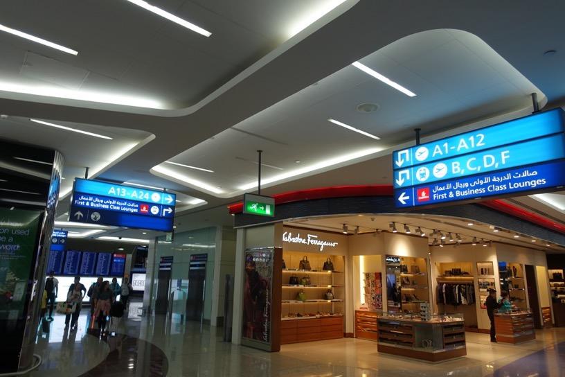 ファーストクラスラウンジ(ドバイ空港):ロケーション1