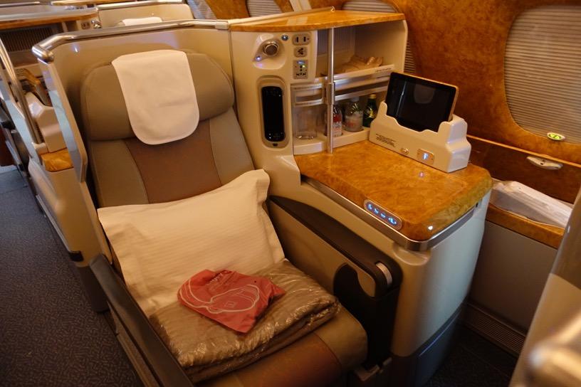 エミレーツ航空ファーストクラス:ビジネスクラス2