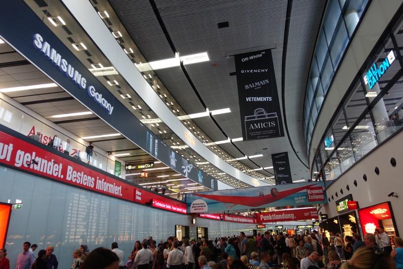 ウィーン空港:到着口