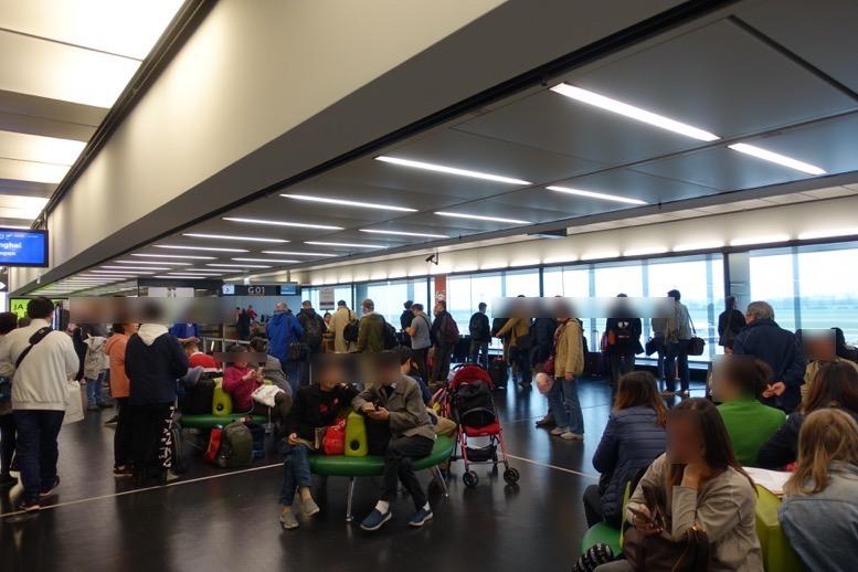 ウィーン空港での優先搭乗1
